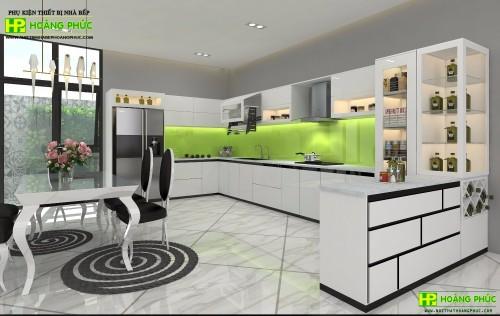 Tủ bếp Acrylic BAE11-03
