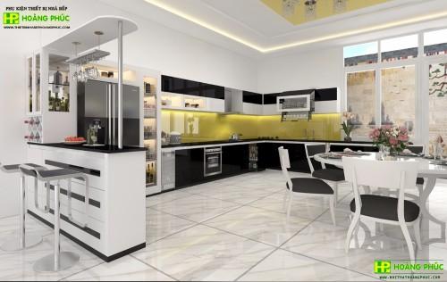 Tủ bếp Acrylic BAP02E11-01