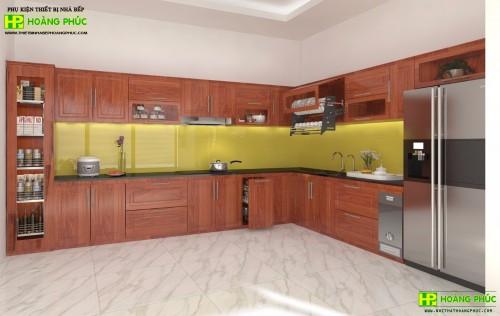 Tủ bếp gỗ căm xe BGCX-01